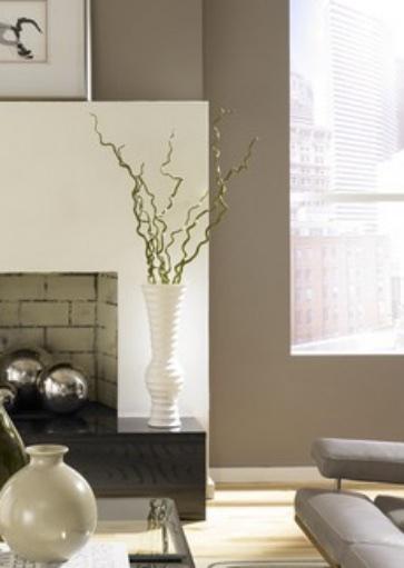 neutrale-Farbe-Wohnzimmer-Ideen-Kamin-weiß-Wände-creme (1) - Farben ...